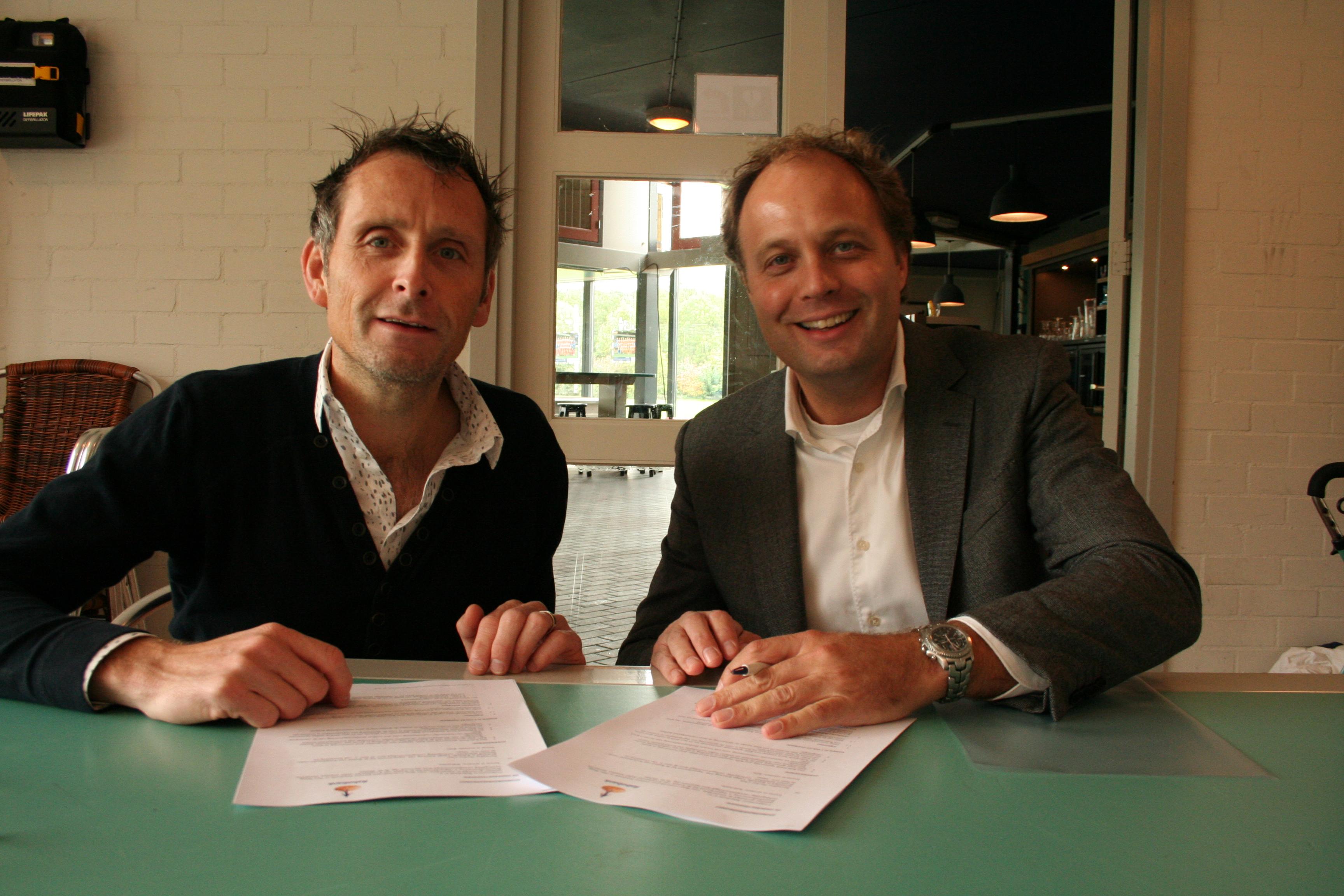 Harmen Bosman (rechts) en Tom van Essenberg
